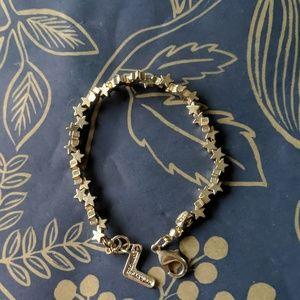 Nwot gold mini star constellation bracelet